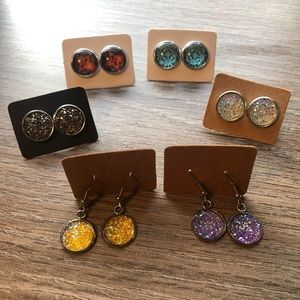 Handmade earrings, studs and dangle